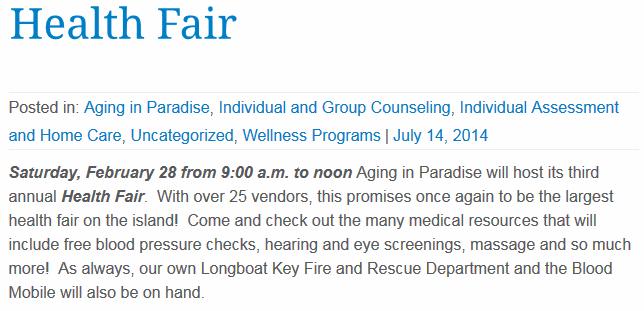 Health Fair February 28th, 2015