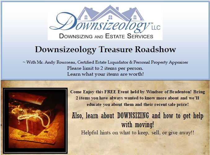 Visit Sarasota Downsizing Flyer Snipit for Windsor of Bradenton